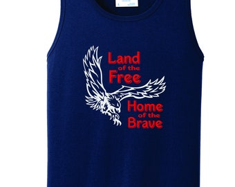 c69d9b09ef08a Patriotic Youth T-Shirt with Eagle Land of the Free Home of