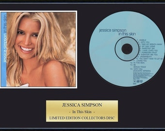 Jessica Simpson - Framed CD Presentation Disc Display