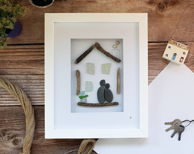 Happy New Home, Moving Day, First Home, Seaglass House, Flying The Nest, Family Home, Home Sweet Home, House Warming, Made in Cornwall
