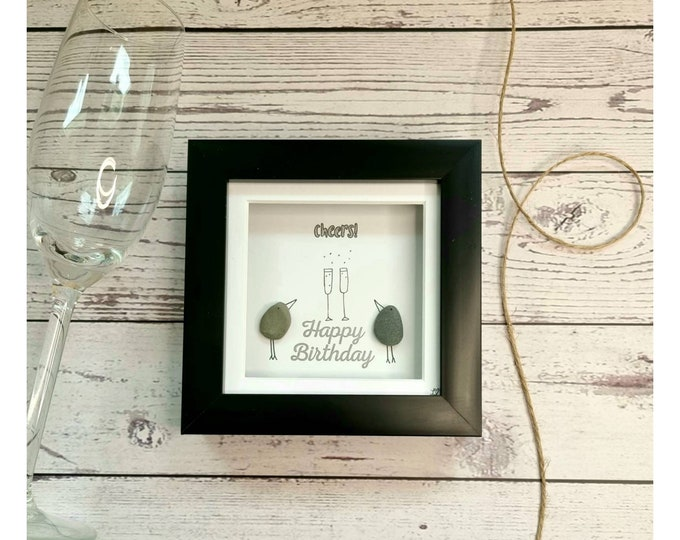 Happy Birthday to you, Cheers to you, Party Time, It's your Birthday, Small Gift, Mini Frames, Best Friend, Colleague, Made in Cornwall