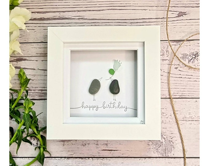 Happy Birthday to you, Flower for you, Party Time, It's your Birthday, Small Gift, Mini Frames, Best Friend, Colleague, Made in Cornwall