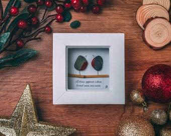 Robins Appear When Loved Ones Are Near, Mini Frame Gift Idea, Secret Santa Budget, Pebble Art Christmas Robins