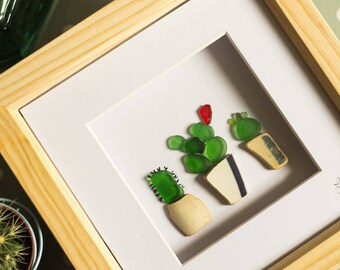 Three Little Pricks, Trio of Cacti, Cactus Lover, Cactus Addict, Indoor Plants, Red Seaglass, Flowers, Fun Gift Idea, Occasions, Mothers Day