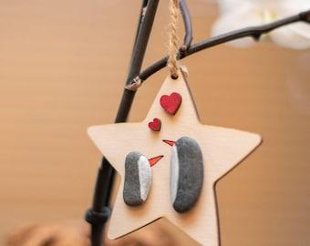 Penguin Christmas Tree Decoration, Tree Hanging, Handmade Gift Idea, Holiday Decor, Xmas Ornament, Made in Cornwall