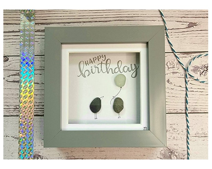 Happy Birthday to you,  Balloons, Party Time, It's your Birthday, Small Gift, Mini Frames, Best Friend, Colleague, Made in Cornwall