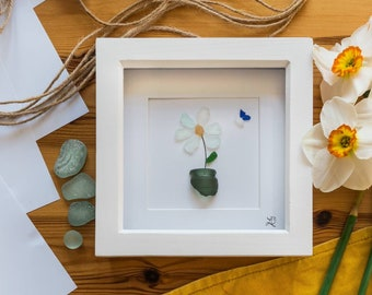 Flowers in Bloom, Spring Summer Florals, Plant Pots, Gardening Gift, Butterflies, Nature, Mothers Day, Thinking of You Today And Everyday