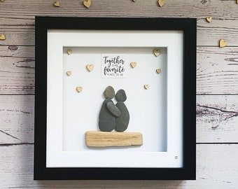 Together Is My Favourite Place To Be, Valentines Day, Couple Pebble Art, Love Is In The Air, Together Forever, Love You Always, Handmade Art