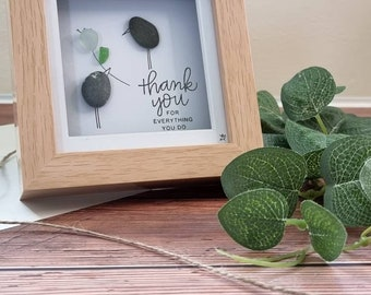 Thank You For Everything You Do, Cornish Seaglass Birds, Just For You, Thinking Of You, Sending Smiles Across The Miles, Cornwall Handmade