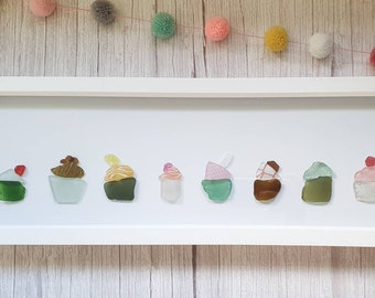 Cornish Cupcakes, Sea Glass Sweet Treats, Bakes, Dessert, Flavours, Sprinkles, Colourful, Truly Cornish Cupcakes, Handmade in Cornwall