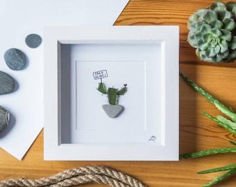 Free Hugs Cacti, Cactus Love, Free Hugs, Prickly, Plant Lover, Made in Cornwall, Cornish Seaglass, Cornish Gift, Handmade by a Cornish Girl