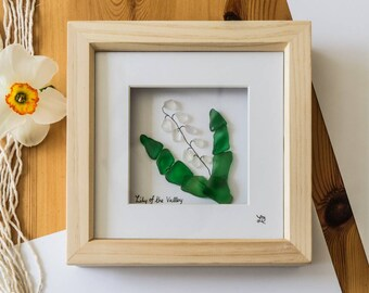 Lily Of The Valley, Sea Glass Art, Flora day, Traditional Flower, Helston Flora Day, Furry Dance, Pebble Art Flower, Cornish Sea Glass
