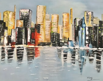 Oil painting Reflex City