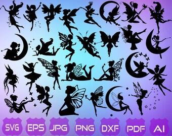 fairy silhouette etsy