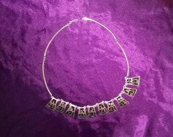Vintage Sterling Silver Pendants Necklace