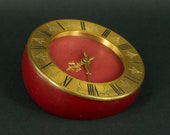 8 days Big Desk Clock CH.HOUR, Vintage Tabletop Clock, Colectible Art Deco Clock