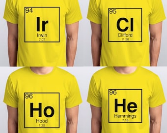 e31722b44032 5 Seconds Of Summer Periodic Elements T-Shirts