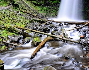 Nature Photography / Waterfall Photography / Landscape / Art Print / Home Decor / Mountain Print / Scenery Photography / Forest Photography