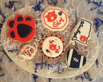 Auburn Cookie Set includes 14 cookies