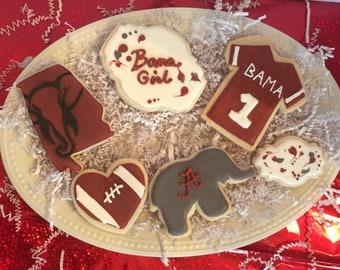 Alabama Cookie Set includes 14 cookies