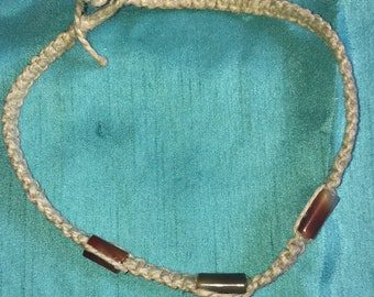 Handmade Hemp Choker Necklace