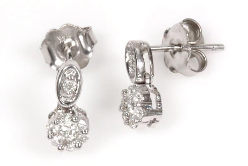 b2e43c66f 0.35 ct tw Natural Diamond G-H VS-SI Solid Gold Drop | Etsy