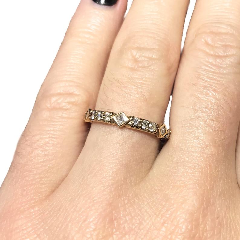 0.7 ct tw Natural Diamond Full Eternity Wedding Band Ring / image 0