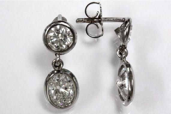 c523b7da5 3.53 ct tw Natural Diamond G-H SI2-SI3 Gold Drop Earrings | Etsy