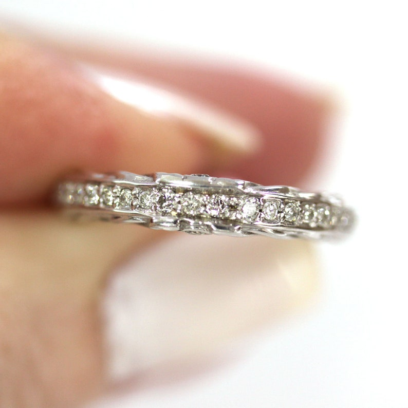 0.3 ct tw Natural Diamond Braided Wedding Band Ring / Solid image 0