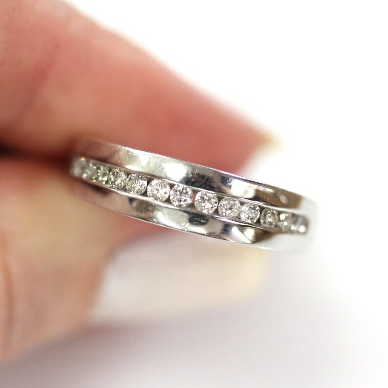0.45 ct tw Natural Diamond G-H SI Channel Set Wedding Band / image 0