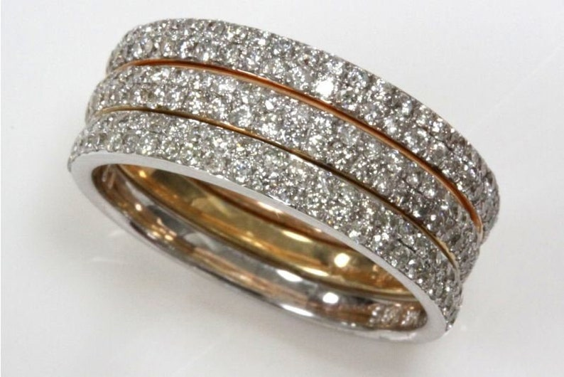 1 ct tw Natural Real Diamond G-H VS-SI Solid Gold Stackable image 0