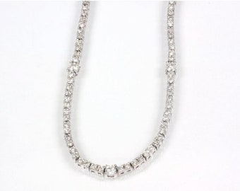 3.5 ct tw Natural Diamond (F-G, VS) Gold Tennis Necklace