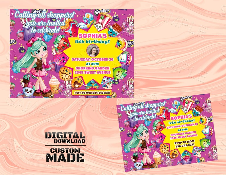 photo relating to Shopkins Printable Invitations called Shopkins Invitation, Shopkins Birthday Invitation, Shopkins, Shopkins Celebration, Shopkins Invite, Shopkins Printable