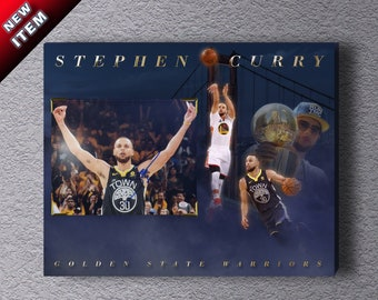 0d2263e85 Golden State Warriors superstar PG Stephen Curry sign 8x10 photo (w  COA)  on 16x20 canvas