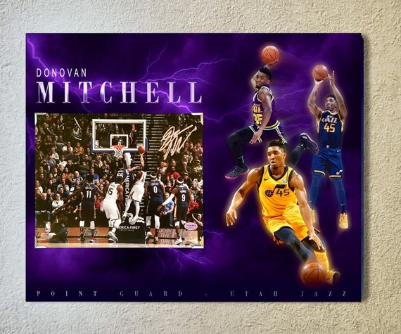 65810b60f Utah Jazz superstar point guard Donovan Mitchell signed 8x10