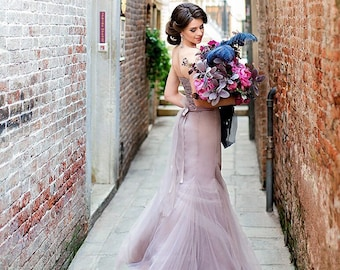 Purple wedding dress etsy purple wedding dress tulle dress tulle purple evening dress tulle gown blush prom dress sweetheart dress tulle skirt junglespirit Images
