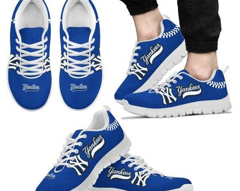 New York Yankees Fan Custom Unofficial Running Shoes Sneakers Trainers e804ec7f9f