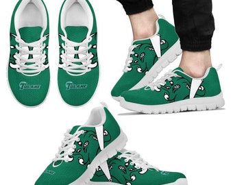 55bdacd7087 Tulane Green wave NCAA Fan Custom Unofficial Running Shoes Sneakers Trainers