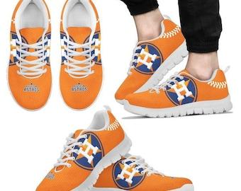 69065be70d6 Houston Astros Dark orange Fan Custom Unofficial Running Shoes Sneakers  Trainers