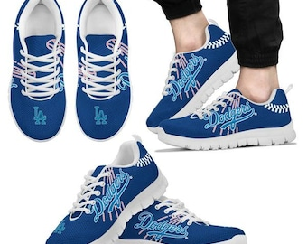 Los Angeles LA Dodgers Fan Custom Unofficial Running Shoes Sneakers Trainers 329591f01