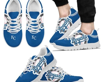 release date: 2a8cd ec0bf Kansas City Royals Fan Custom Unofficial Running Shoes Sneakers Trainers