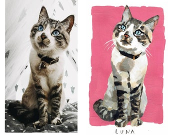 Custom portrait of your pet from your photos!