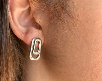 5c5e715b0222 Woman boho silver Earrings