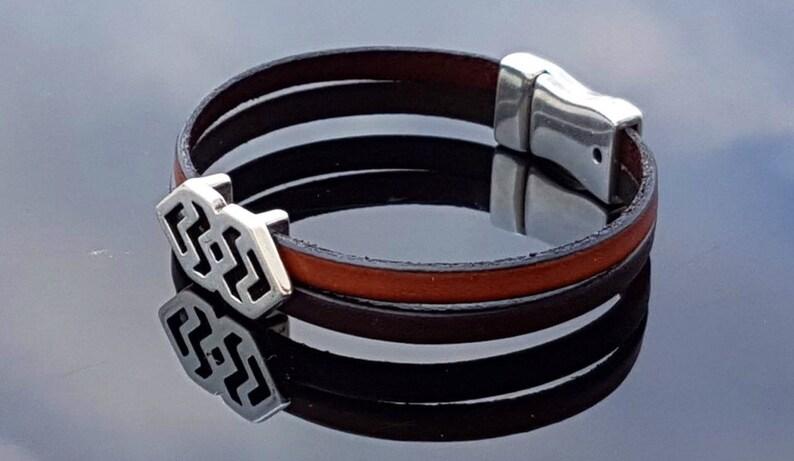 boho bracelet Zamak Spanish Jewelry wrap bracelet Unisex Bracelet silver bracelet woman bracelet man bracelet leather bracelet