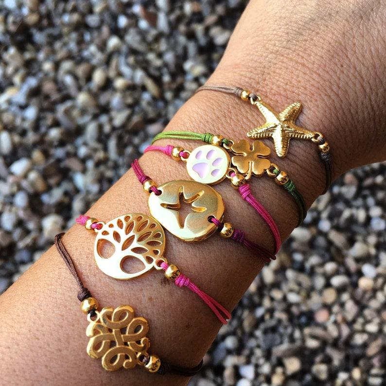 boho bracelet thread bracelet Minimalist woman macrame bracelet silver bracelet spanish zamak bracelet