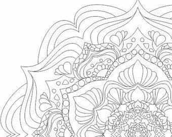 Mandala for coloring