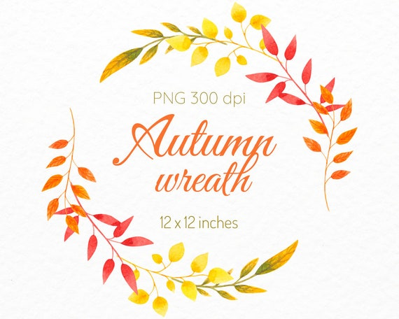 Leaf Frame Autumn Clipart Wedding Invitation Card Design Commercial Use Fall Wedding Invitation Decor Scrapbook Thanksgiving Wreath Clip Art