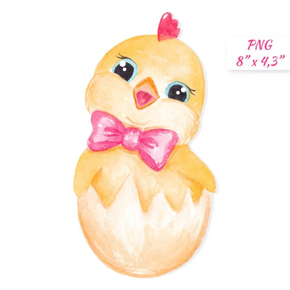 Chick Clipart Easter Chick Clipart Cute Chicken Character Etsy