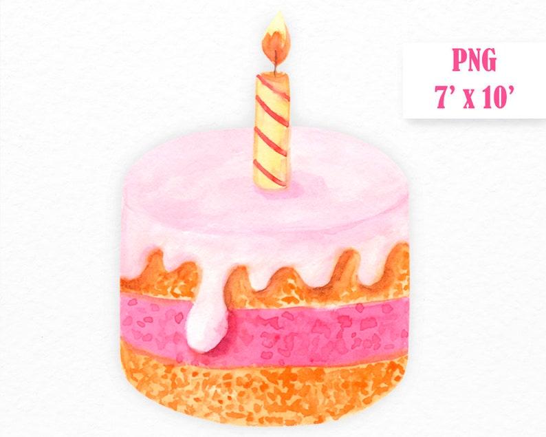 Birthday Cake Clipart Commercial Use Happy Birthday Digital Etsy