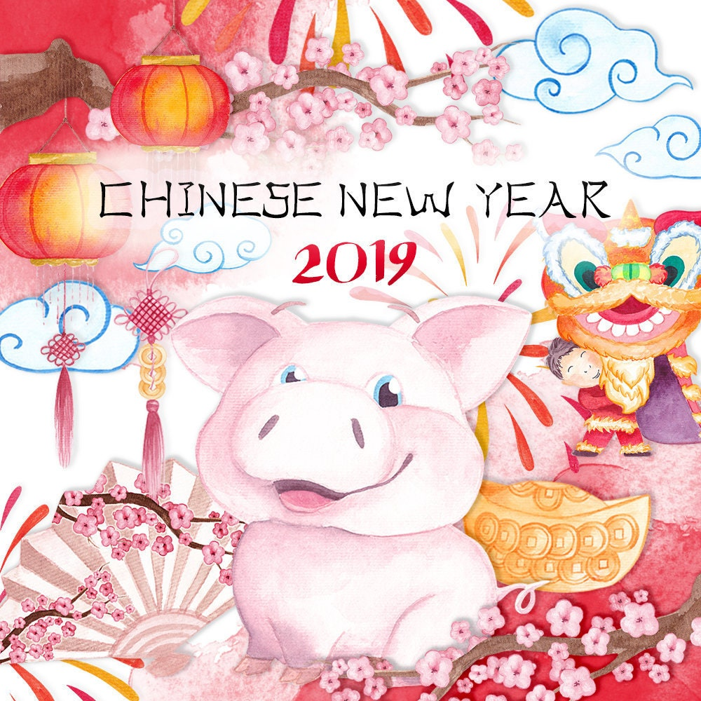 Chinese New Year clipart Commercial use New year 2019 ...