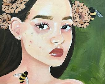 Custom painting on canvas- 'Sin'